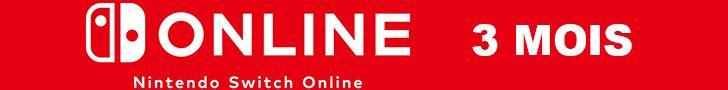Abonnement Nintendo Switch Online 3 mois pas cher