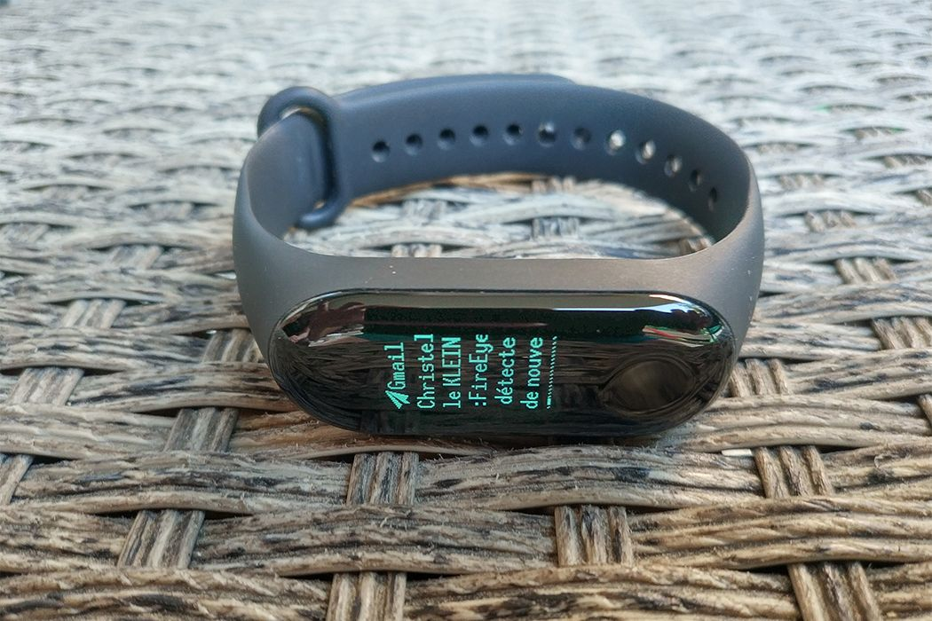 Notification mail Xiaomi Mi Band 3
