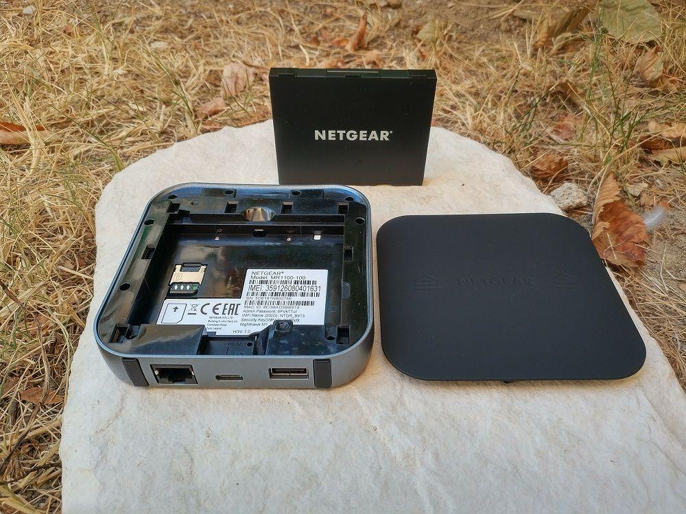 Compartiments batterie + SIM du Netgear Nighthawk M1