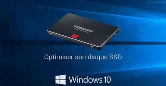 Optimiser disque SSD Windows 10