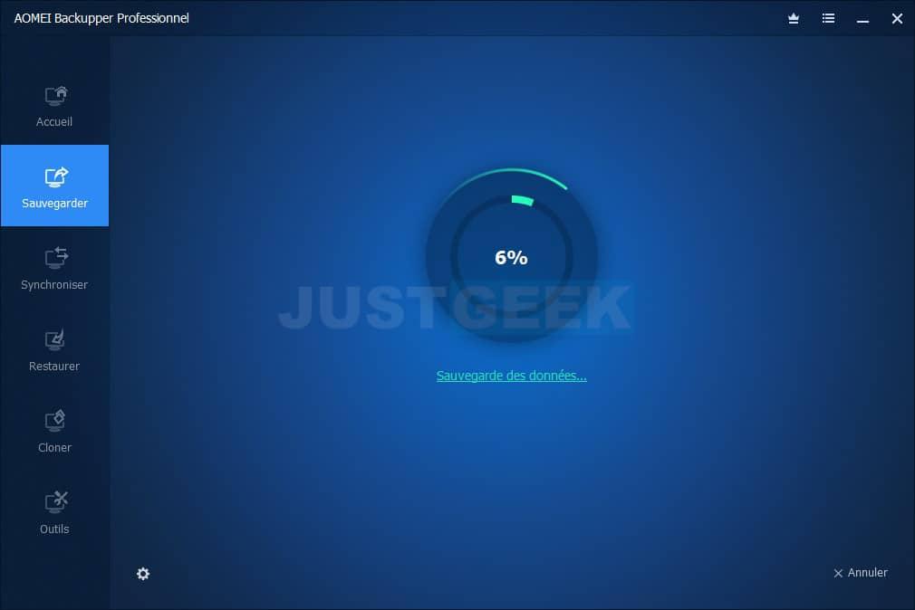 Sauvegarde système Windows 10