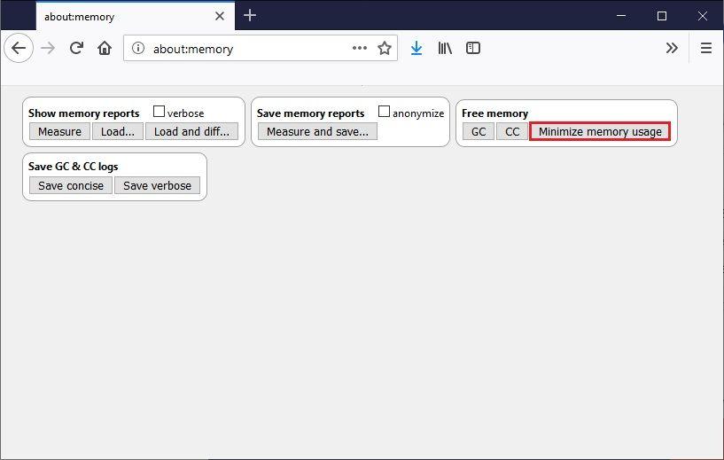 Libérer de la mémoire sur Firefox
