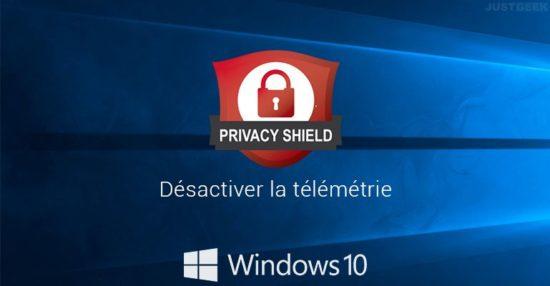 Désactiver la collecte des données de Windows 10