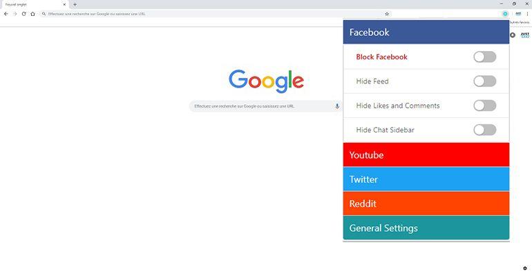 Bloquez Facebook, YouTube et autres sites dans Chrome UnDistracted-extension-Chrome