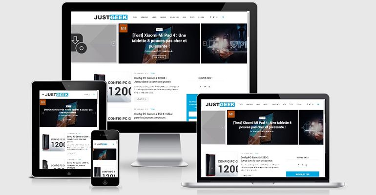 JustGeek Responsive Design