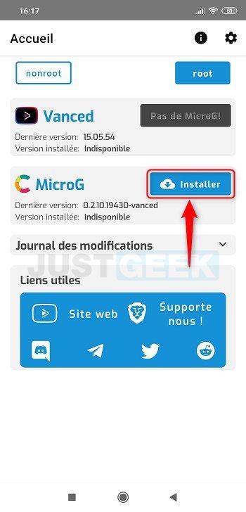 Installer l'application MicroG