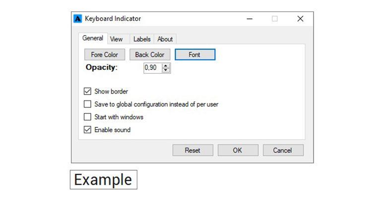 Keyboard Indicator