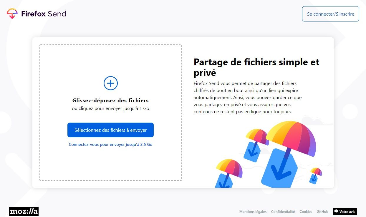 Firefox Send Website