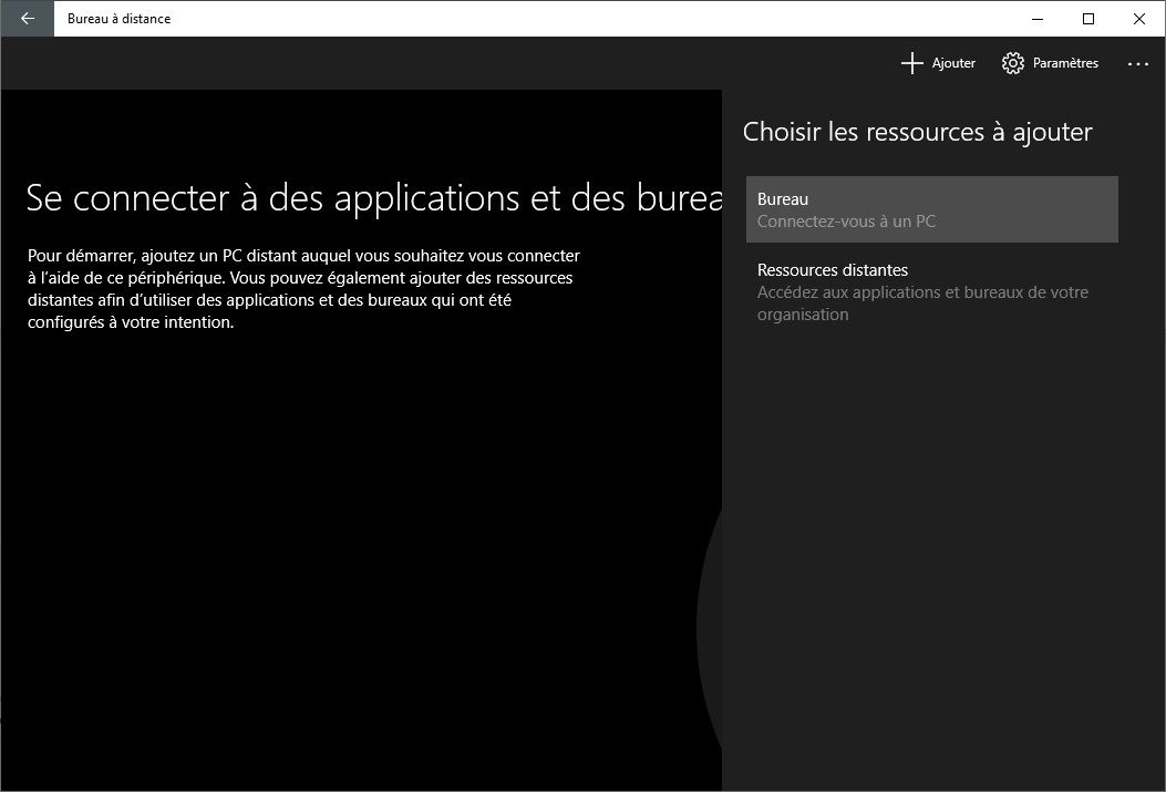 Bureau à distance Microsoft
