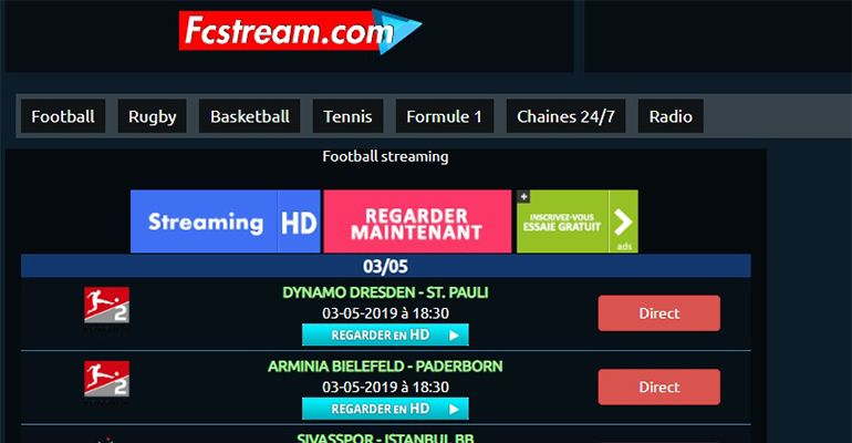 Fcstream : football streaming live