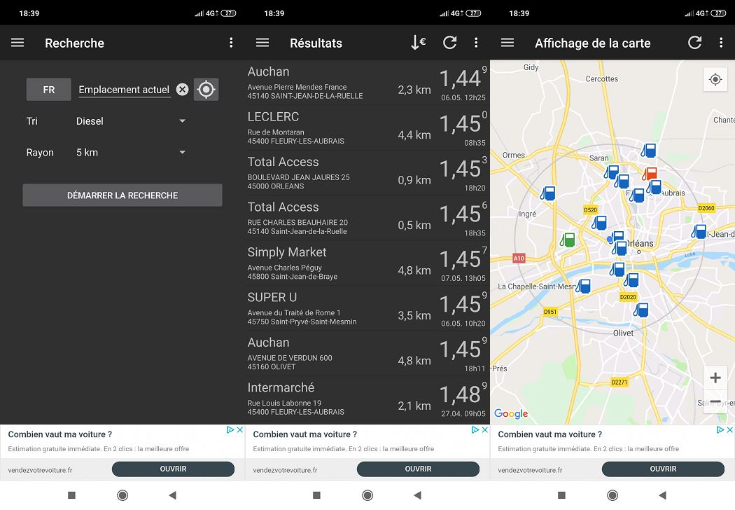 Fuel Flash Interface application Android