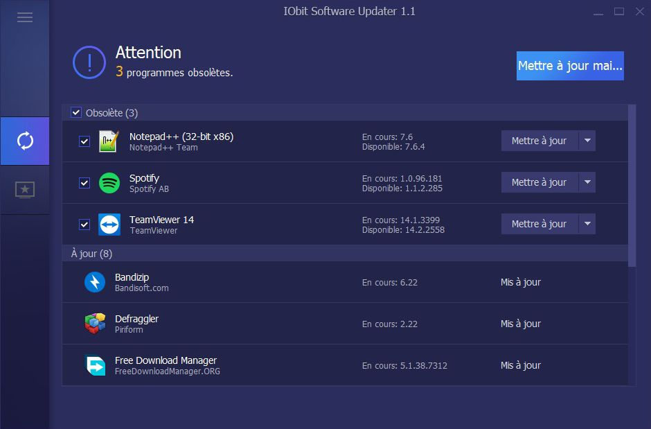 IObit Software Updater