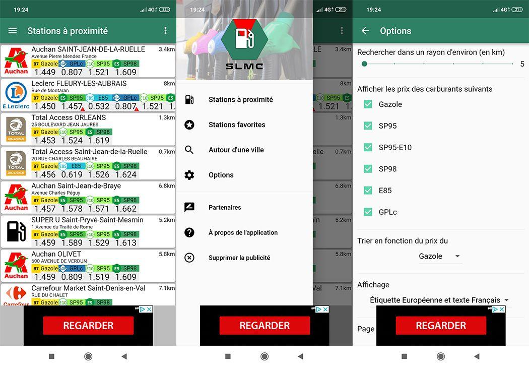 SLMC (Station La Moins Chère) : Application Android carburant pas cher