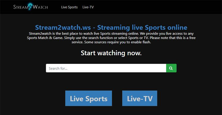 Stream2Watch - Regarder match en direct
