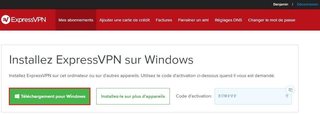 Étape 1 : Télécharger l'application VPN