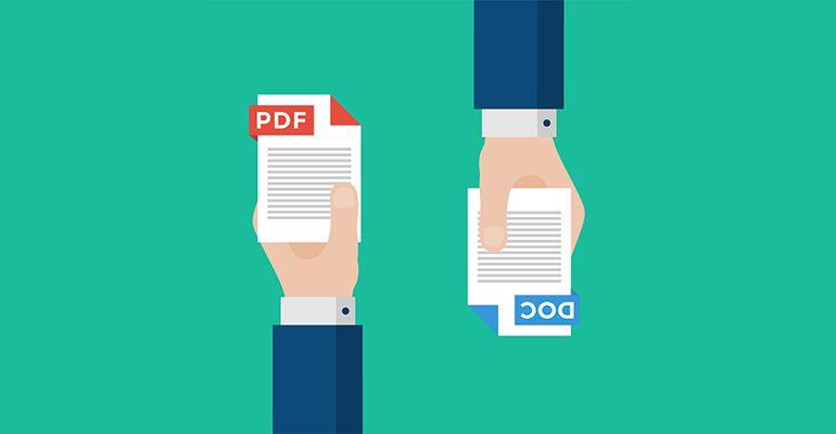 Convertir fichier PDF en Word, Excel, JPG ou vice versa