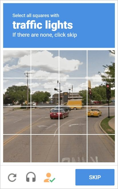 Exemple CAPTCHA image