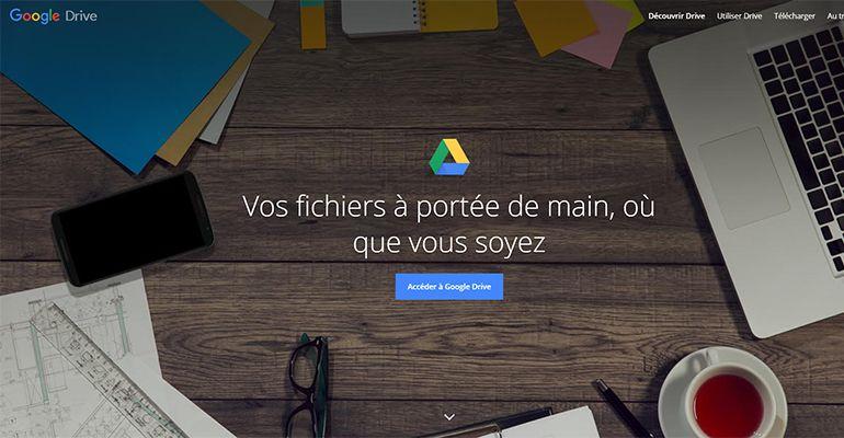 Google Drive : Stockage en ligne 15 Go gratuit