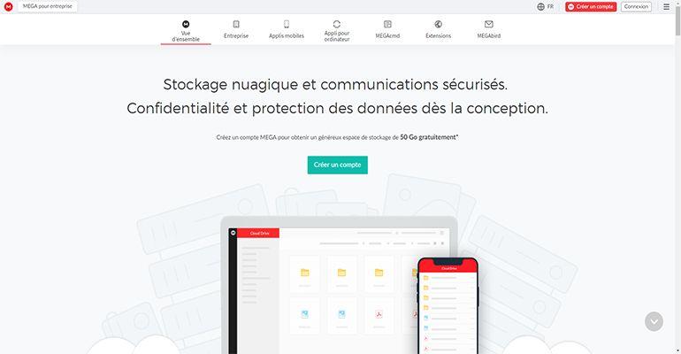 MEGA.nz : Stockage en ligne gratuit (50 Go gratuit)