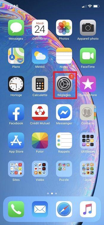 Partager connexion iPhone, étape 1