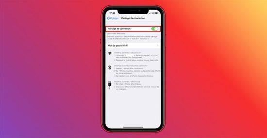 Partage de connexion Android et iOS
