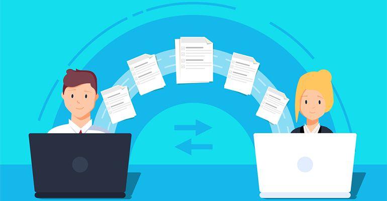 Transférer des fichiers en ligne