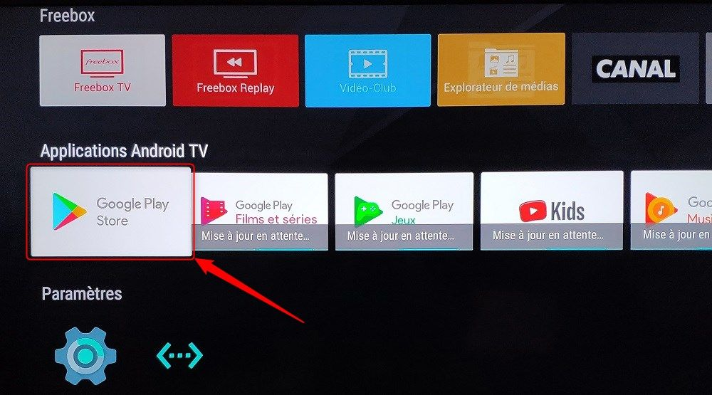 Google Play Store Freebox mini 4K