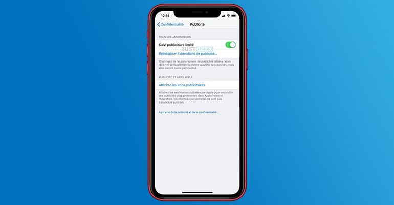 Limiter le suivi publicitaire sur iPhone