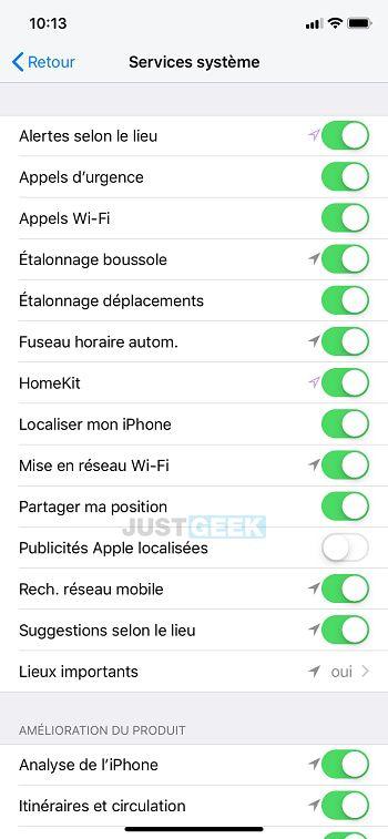 Publicités Apple localisées iPhone