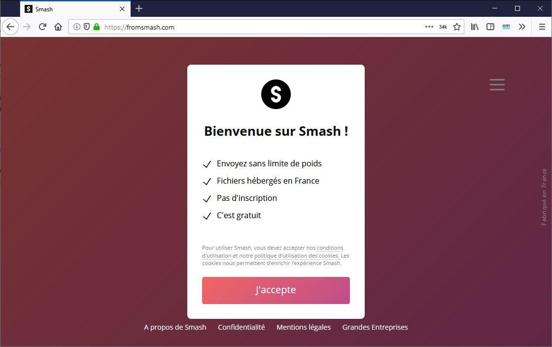 Smash : Envoyez de gros fichiers par mail