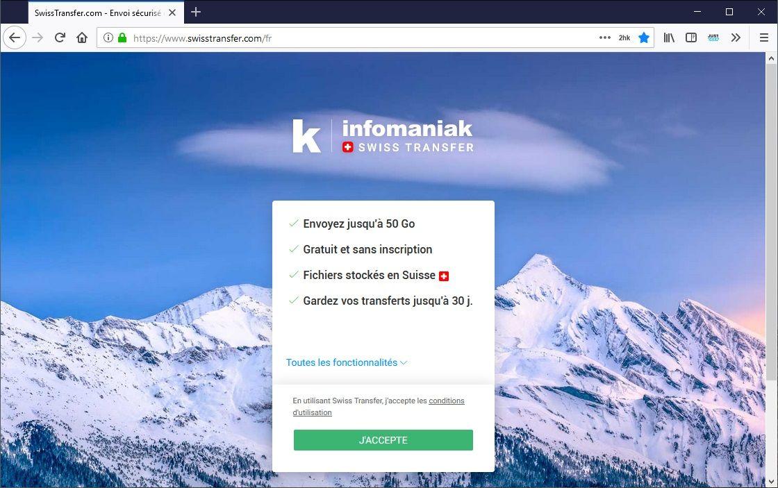 SwissTransfer : Envoyer des fichiers volumineux
