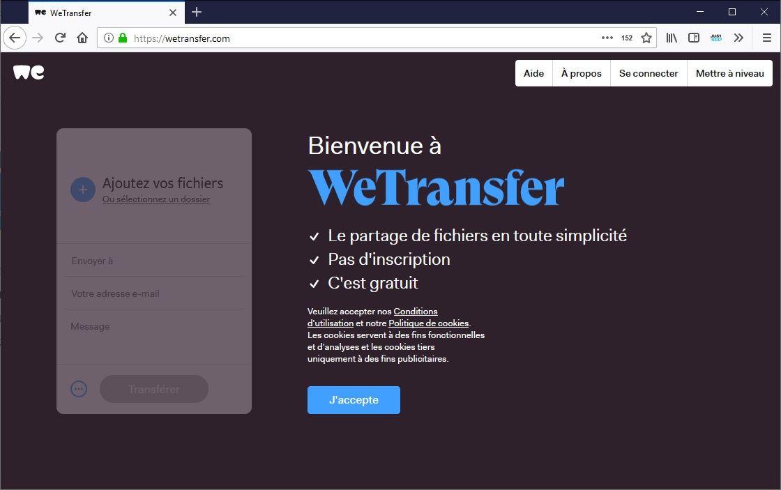 WeTransfer : Le partage de fichiers en toute simplicité