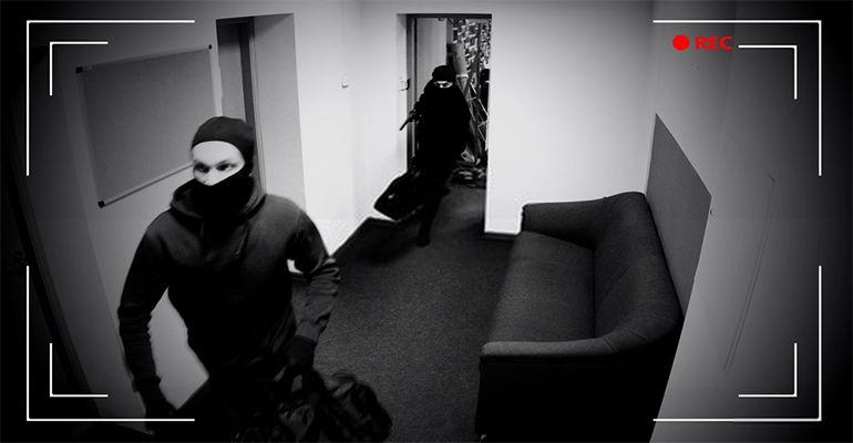 Cambrioleurs filmés par une caméra de surveillance