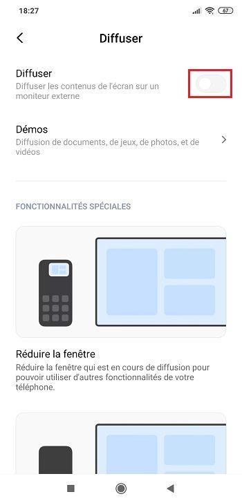 Étape 1 : Diffuser l'écran de votre smartphone sur PC avec le flux audio