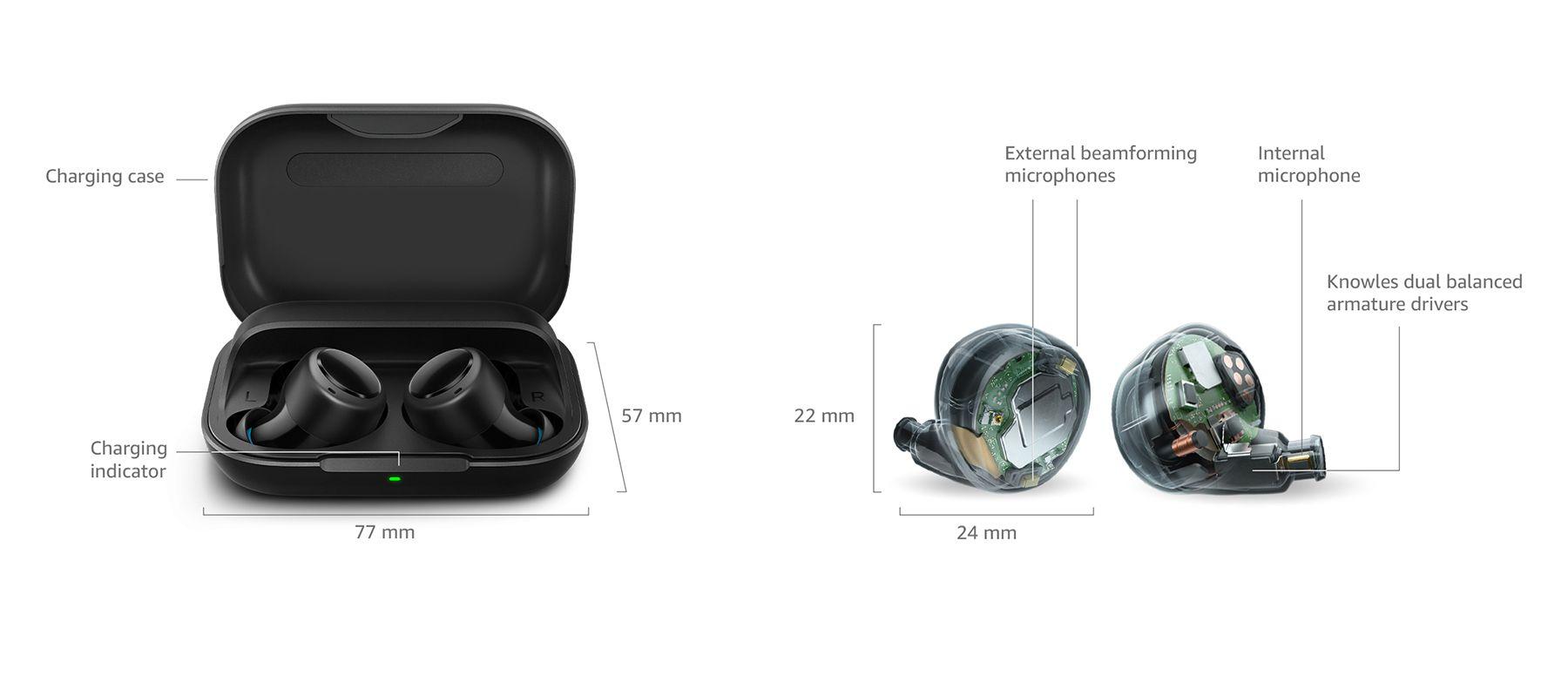 Caractéristiques techniques Amazon Echo Buds