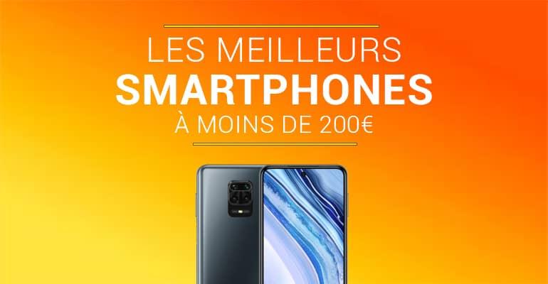 Meilleurs smartphones à moins de 200€