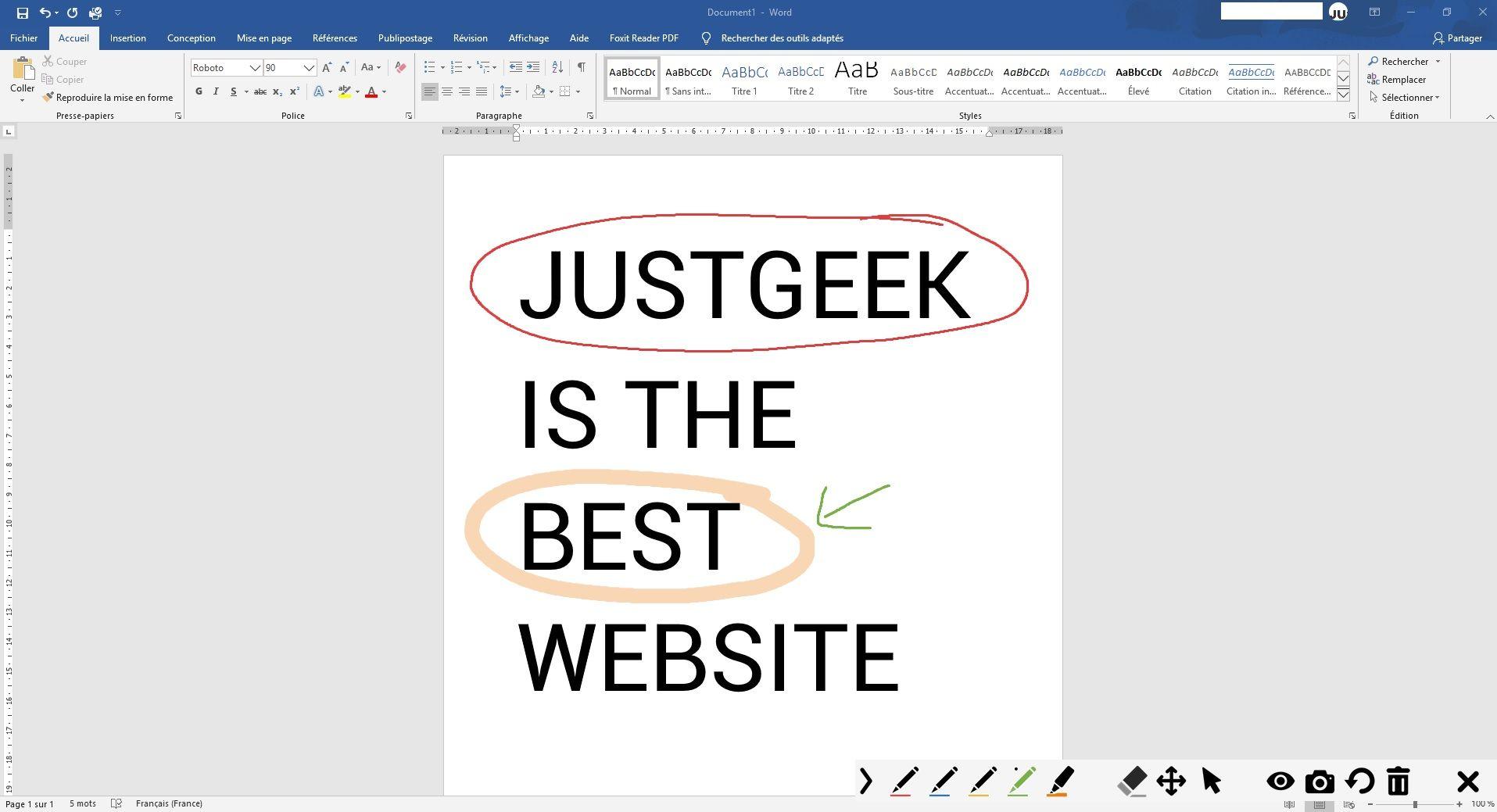 gInk : Exemple d'annotations d'écran