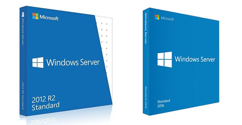 Boîtes Windows Server 2012 R2 Standard et Windows Server 2016
