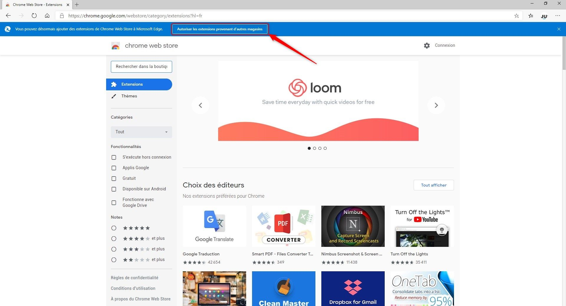 Installer une extension Chrome sur Edge Chromium