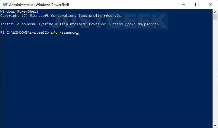 Réparer Windows 10 avec l'outil SFC