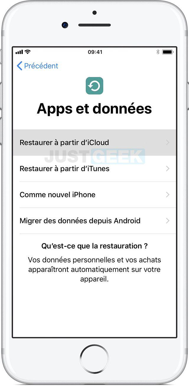 Restaurer iPhone iCloud
