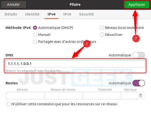 Changer les DNS sous Ubuntu