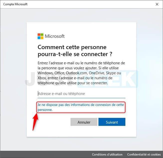 Étape 1 : créer un compte local sous Windows 10