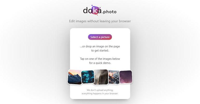Doka.Photo : Un éditeur d'images en ligne gratuit