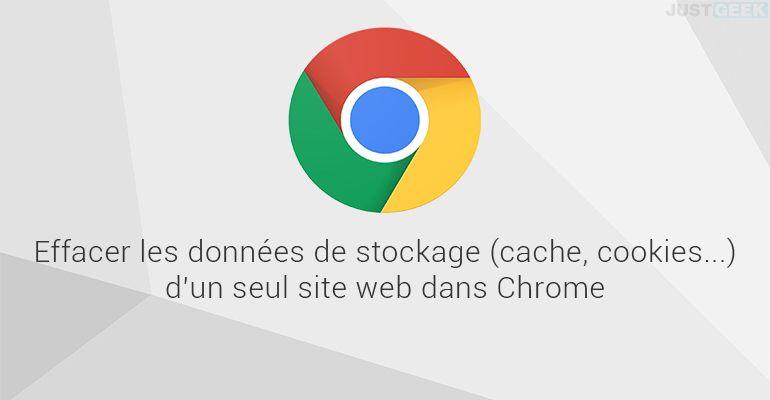 Effacer les données de stockage d'un seul site web dans Google Chrome