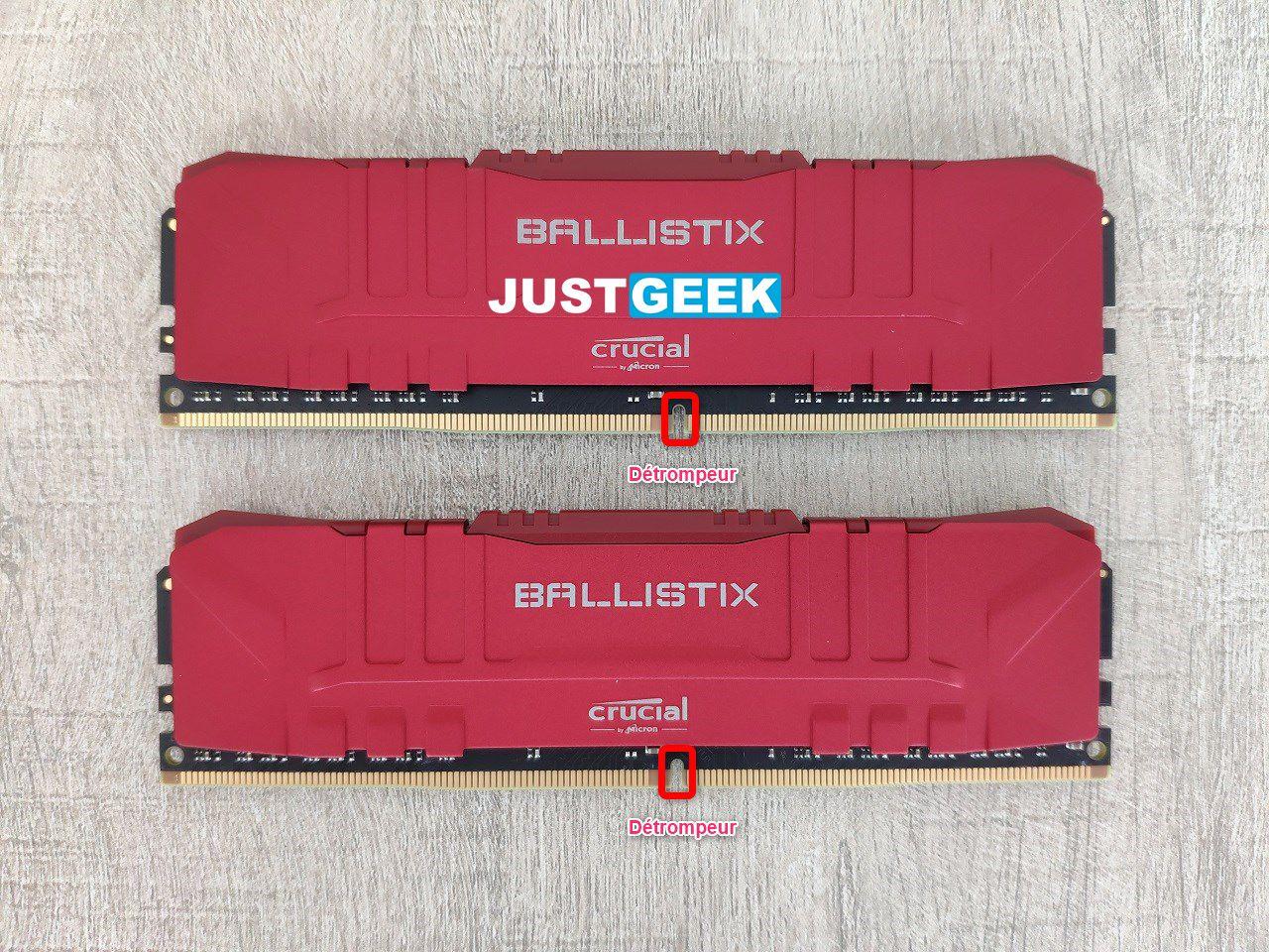 Tutoriel montage PC : Détrompeur d'une barrette de RAM
