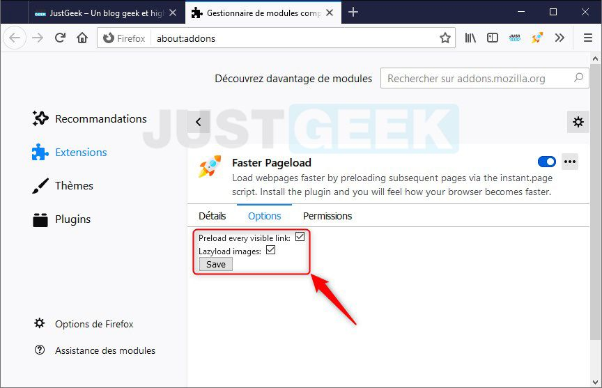 Faster Pageload options