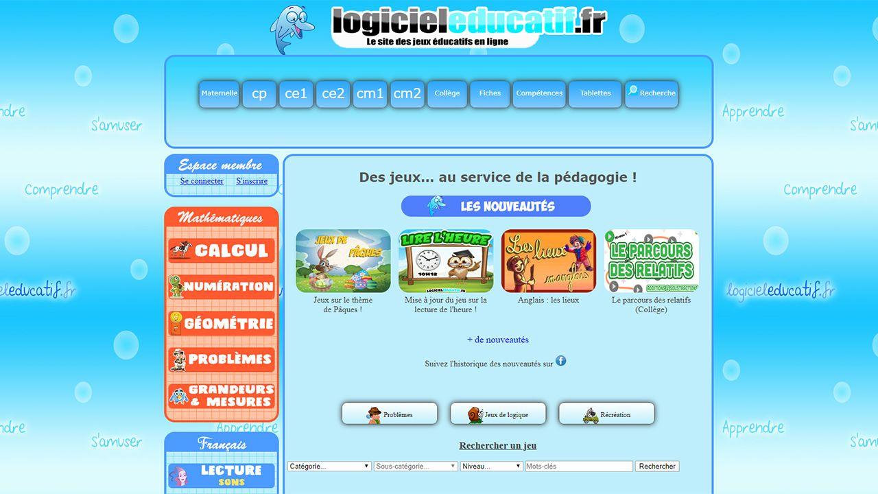 Site de jeux éducatifs gratuits en ligne.