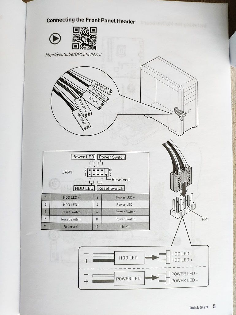 Tutoriel montage PC : Manuel constructeur de la carte-mère
