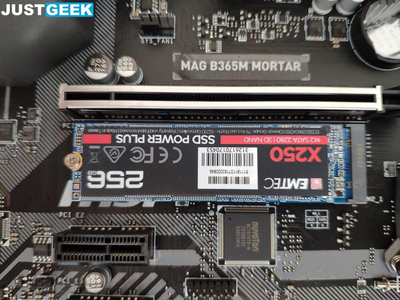 Tutoriel montage PC : Mise en place d'un SSD au format M.2